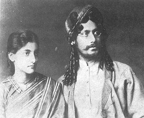 Tagore with Indira Devi