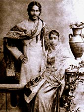 Tagore with his wife Mrinalini Devi